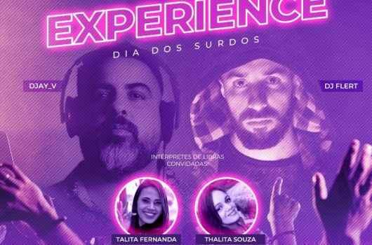 """DJ artista da Label de Ibiza toca no """"Sensitive Experience"""" no Teatro Mario Covas em homenagem ao Dia dos Surdos"""
