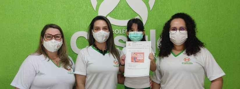'Post' da Prefeitura é usado para incentivar vacinação contra Covid-19 e avaliar alunos de colégio em Caraguatatuba