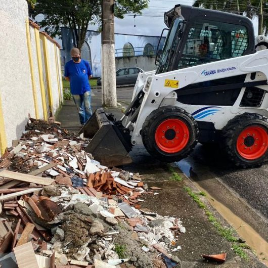 Região Sul recebe manutenção e mais de 50 toneladas de resíduos são retiradas das vias públicas