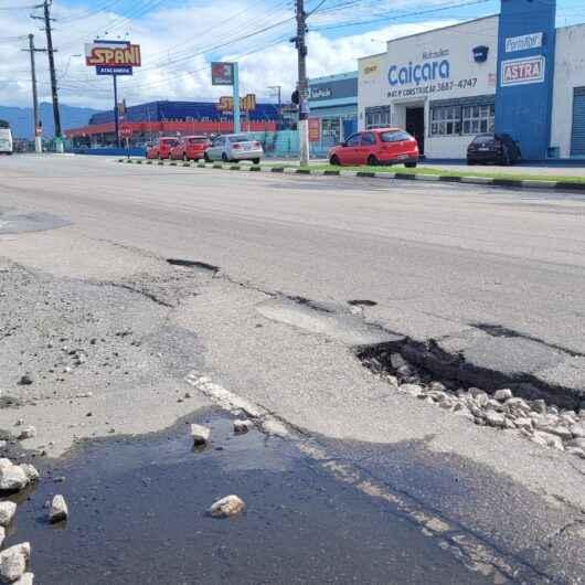 Prefeitura de Caraguatatuba envia ao Estado relatório de buracos e pede recapeamento da Rodovia SP-55