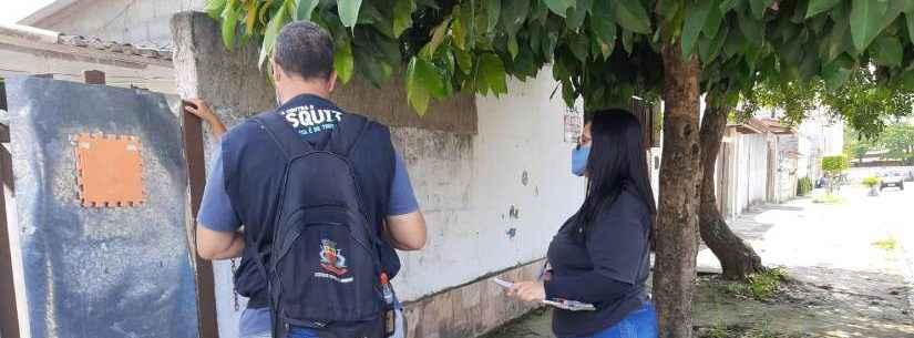 Moradores do Tabatinga recebem visitas dos agentes de controle da dengue até sexta