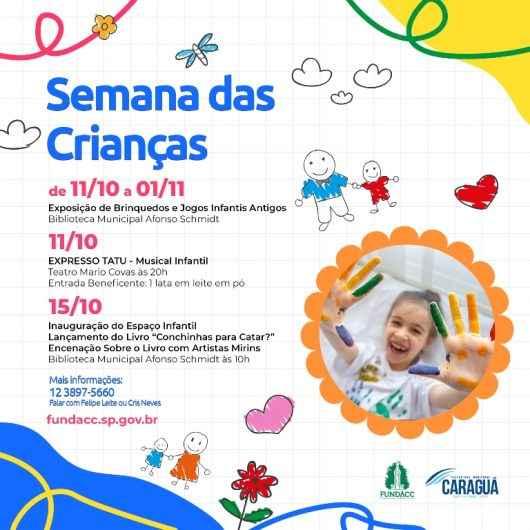 FUNDACC celebra Semana da Criança com inauguração de Espaço Infantil na Biblioteca e musicais no Teatro Mario Covas